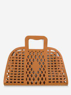 Going Out Picnic Breathable Hollow Out Tote Bag - Brown