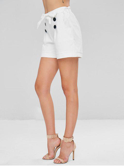 Short avec Poches Style Marin - Blanc S Mobile