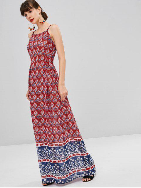 shops Printed Bohemian Cami Dress - RED M Mobile