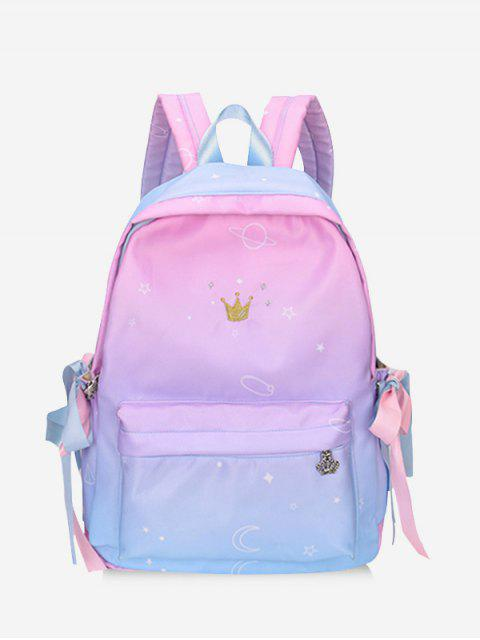ladies Gradient Color Canvas Backpack - MULTI  Mobile