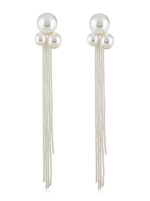 Fausse chaîne de perles - Argent  Mobile