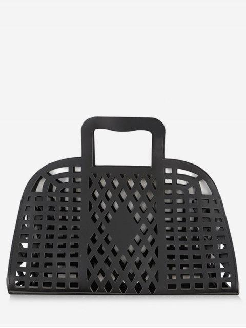 hot Going Out Picnic Breathable Hollow Out Tote Bag - BLACK  Mobile