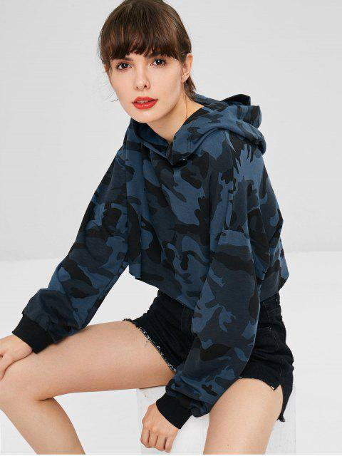 women Camouflage Cropped Hoodie - MULTI L Mobile