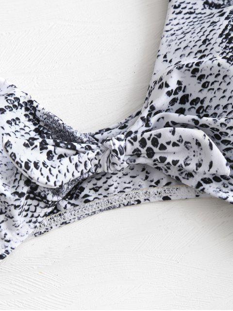 Traje de baño de piel de serpiente con nudos - Blanco L Mobile