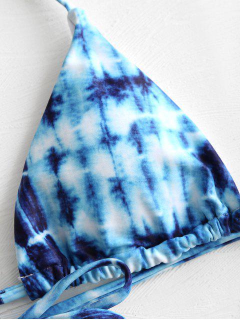 Krawattenfärben- Halfter -Bikini- Set - Blau S Mobile