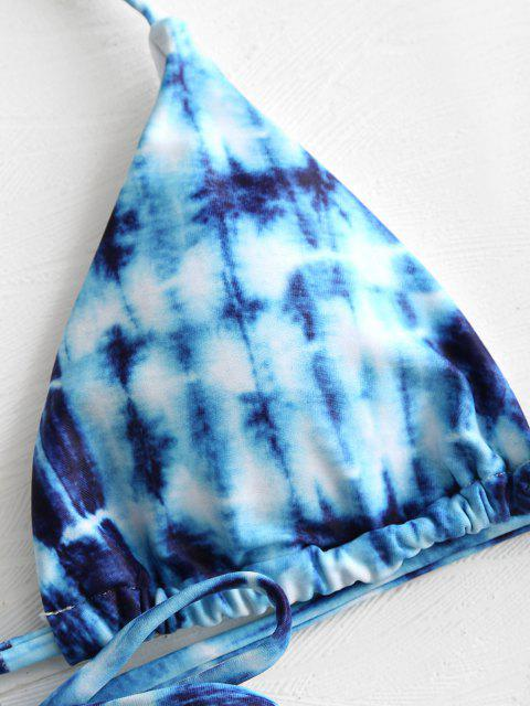 Bikini de Teñido de Corbata - Azul M Mobile