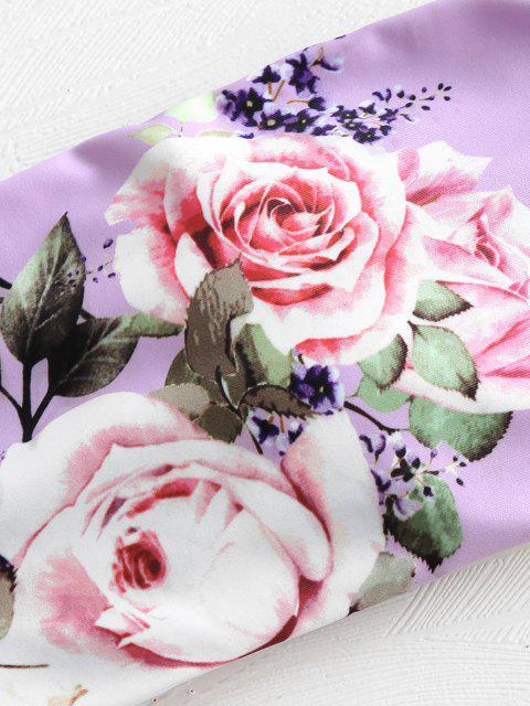 Conjunto de biquíni com laço floral - Cor de Malva M Mobile