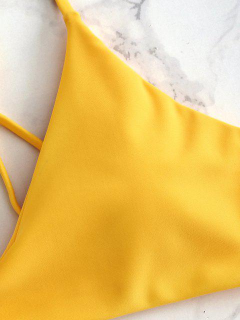 Conjunto de bikini acolchado Low Rise - Caucho Ducky Amarillo L Mobile