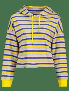 Capucha Sudadera S Pullover Hem Multicolor De Con Cruzada XXqw5r