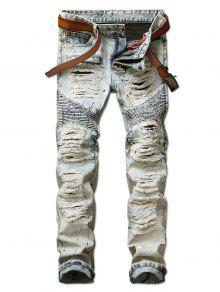 جينز السائق داستر دهان جينز طباعة  - أزرق سماوي 38