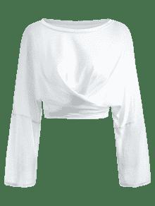 Anudada Blanco Semi Camiseta Con Nudos 5x8UAHwT