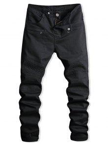 جينز دانتيل الرمز البريدي مزين  السائق - أسود 38
