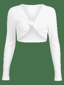 Anudada Camiseta Acanalada Acanalada Camiseta S Blanco q1tax7wR