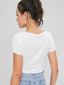 Mariposas Camiseta Blanco S Con Recortadas 1qq6xP58