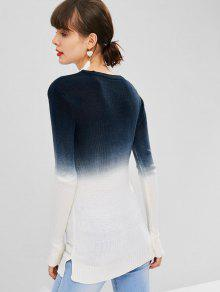Ombre Slit Side Sweater Side Slit Ombre Sweater Multicolor Multicolor w1xznwYP