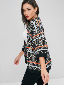 b40738bd1 47% OFF] 2019 Open Front Textured Stripes Kimono Cardigan In MULTI ...