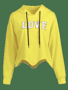 Asymmetrical Amarillo S Love Graphic Hoodie ZqgRwqxn67
