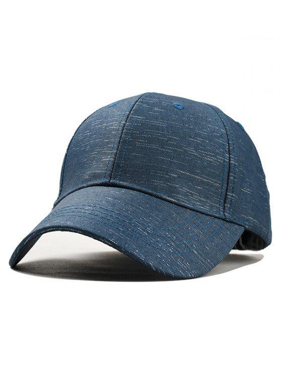 Casquette de Baseball Réglable en Blocs de Couleurs - Bleu Cadette
