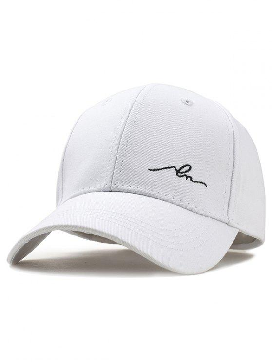 Sombrero snapback ajustable simple bordado - Blanco
