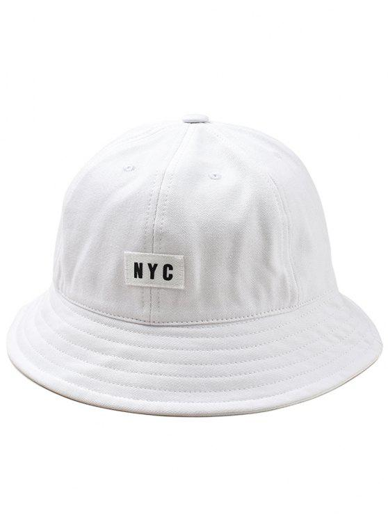 Leichter NYC Label Bucket Hat - Weiß