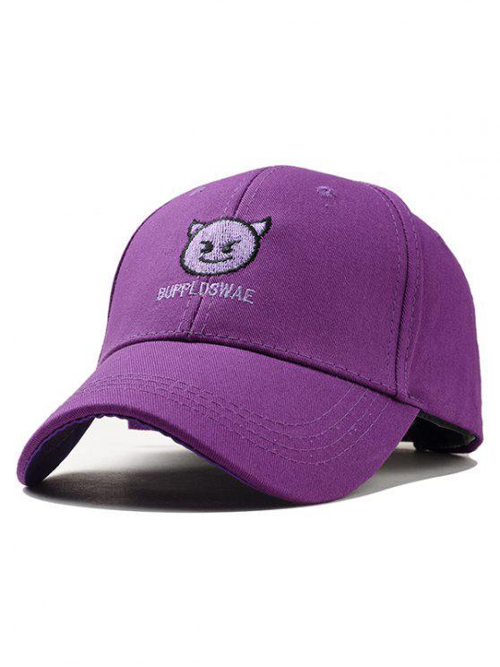 Naughty Devil Embroidery Graphic Hat - Púrpura