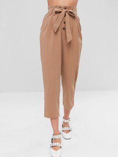 Belted Straight Ninth Pants - Brown L