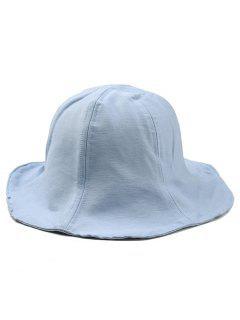 Wide Brim Solid Color Fisherman Hat - Light Blue
