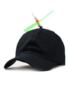 Propeller Dragonfly Novelty Baseball Hat - Black