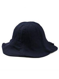Wide Brim Solid Color Fisherman Hat - Cadetblue