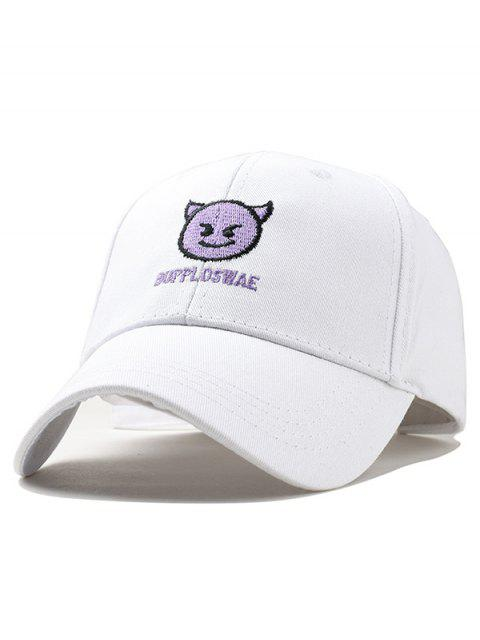 Naughty Devil Embroidery Graphic Hat - Blanco  Mobile
