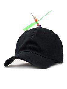 المروحة اليعسوب الجدة قبعة بيسبول - أسود