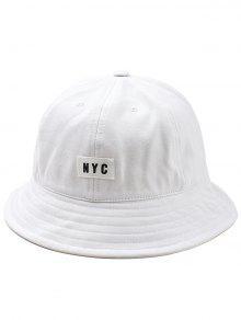 خفيفة الوزن NYC تسمية دلو القبعة - أبيض