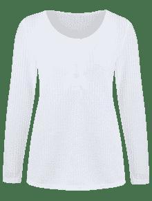 Abertura Lateral Camiseta Con Abotonada S Blanco fwxaqCP