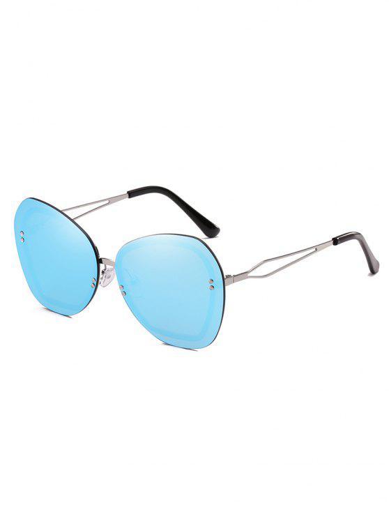 Anti Ermüdung Nieten Randlose Sonnenbrille - Helles Himmelblau