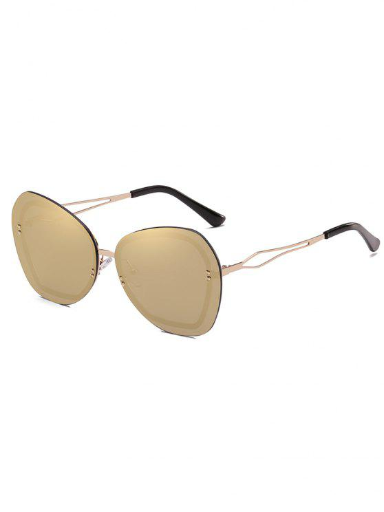 outfits Anti Fatigue Rivets Rimless Sunglasses - CHAMPAGNE GOLD