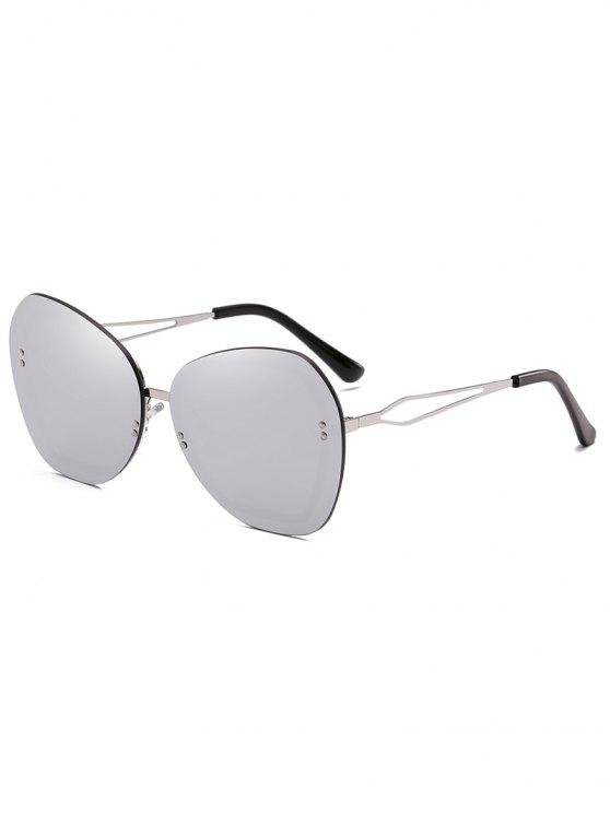Anti-fatiga remaches sin montura gafas de sol - Platino