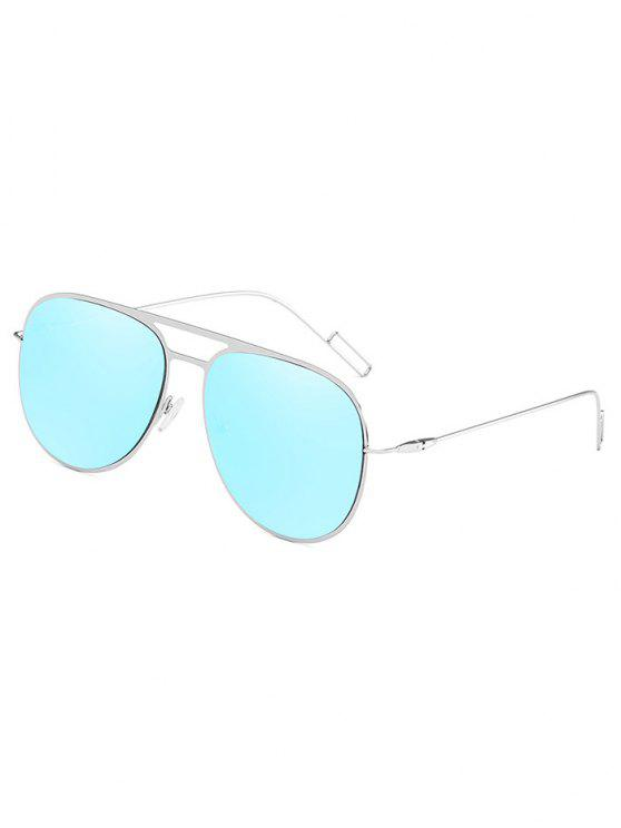 Anti Müdigkeit aushöhlen Legierung Rahmen Sonnenbrillen - Himmelblau