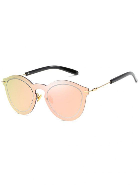 unique Novelty Rimless One Piece Sunglasses - LIGHT PINK