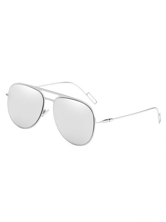 sale Anti Fatigue Hollow Out Alloy Frame Sunglasses - PLATINUM
