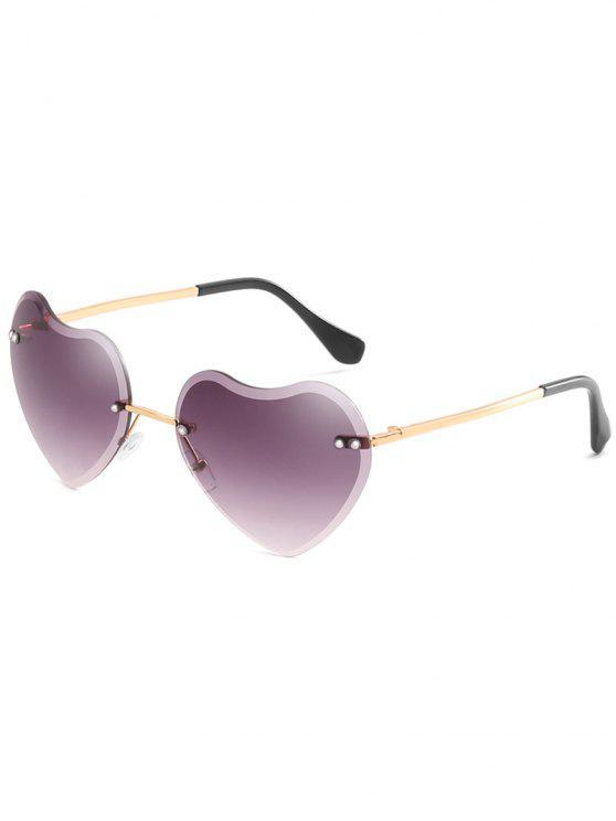 الجدة شكل قلب عدسة النظارات الشمسية بدون شفة - ضوء سليت رمادي
