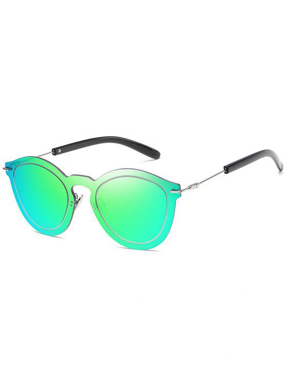 buy Novelty Rimless One Piece Sunglasses - LIME GREEN