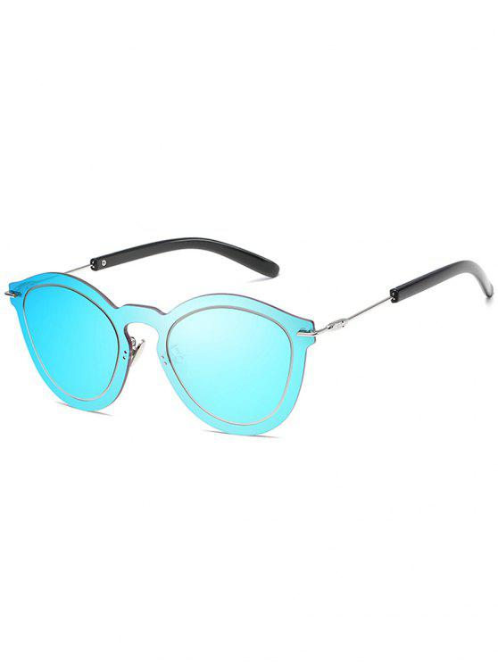 women Novelty Rimless One Piece Sunglasses - DODGER BLUE