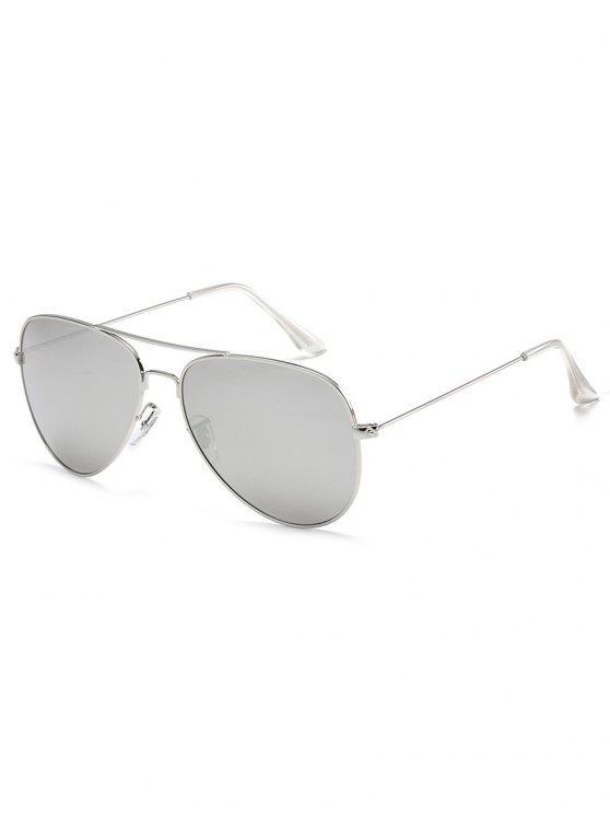 Gafas de sol piloto de la barra cruzada del marco metálico antifatiga - Platino