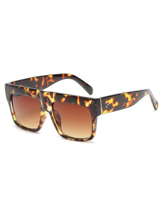 fashion Novelty One Piece Wide Frame Sunglasses - LEOPARD
