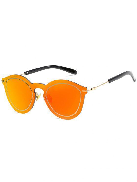 Novedad sin montura gafas de sol de una sola pieza - Rojo