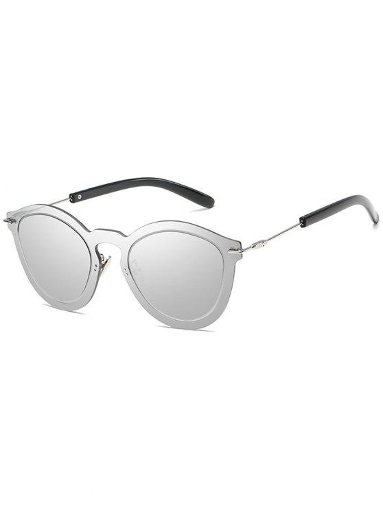 ladies Novelty Rimless One Piece Sunglasses - PLATINUM