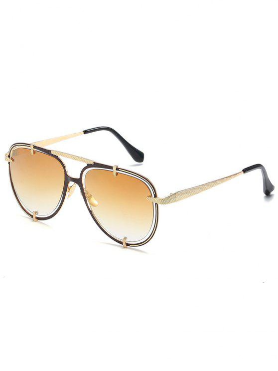 Aushöhlen-Rahmen Crossbar Pilot Sonnenbrille - Champagne-Gold