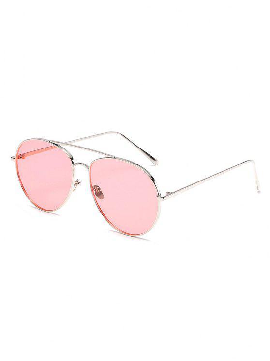 6c5043a070 2018 Vintage Metal Frame Flat Lens Sunglasses In PINK