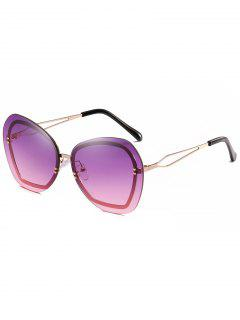Anti Fatigue Rivets Rimless Sunglasses - Heliotrope Purple