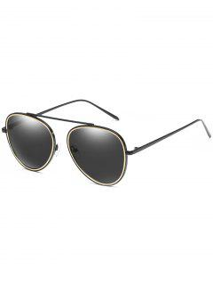 Anti Fatigue Top Bar Pilot Sunglasses - Black